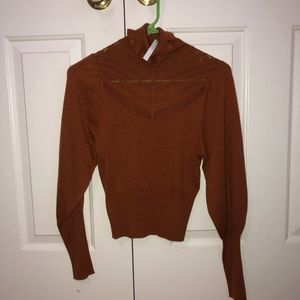 NWT asos rust colored turtleneck sweater